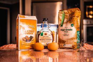 Image of baking powder and other baking ingredients